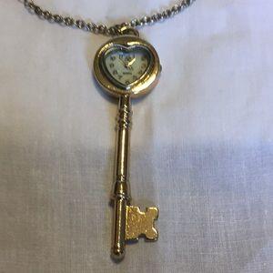 Key Watch Necklace